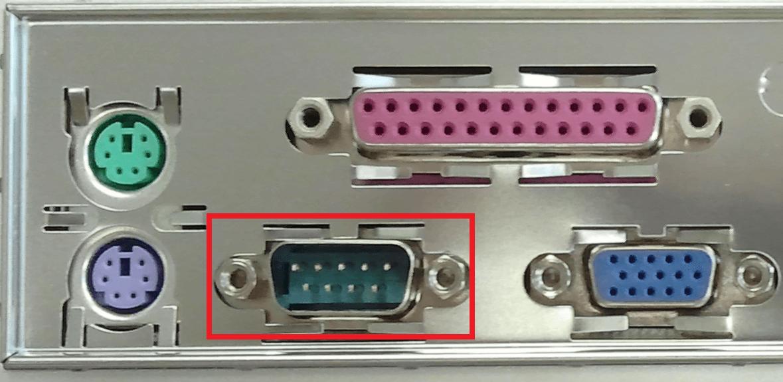 درگاه سریال با کادر قرمز رنگ مشخص شده است