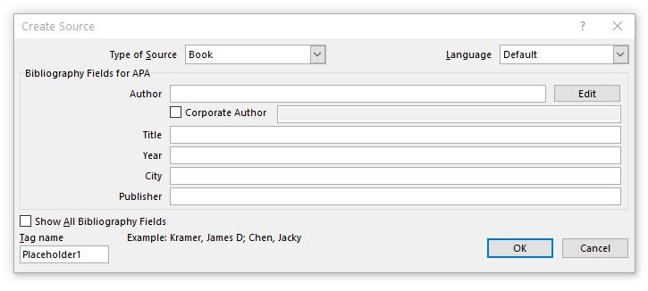 افزودن منابع (نقل قول) به سند متنی مایکروسافت ورد (برای بزرگتر شدن تصویر روی آن کلیک کنید)