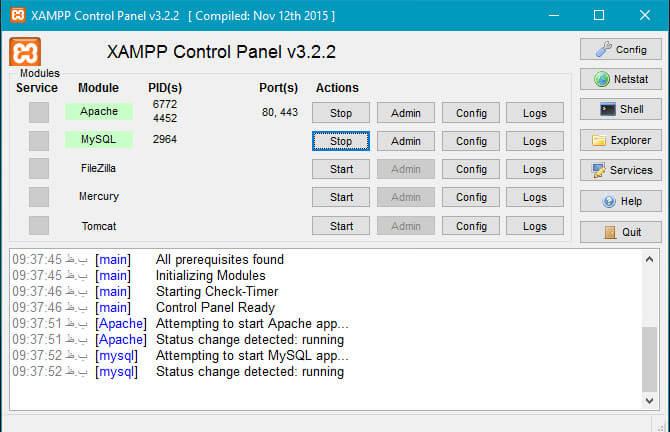 Xampp-start