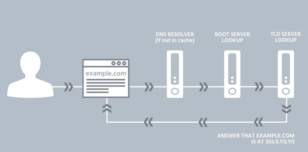 مراحل کار DNS
