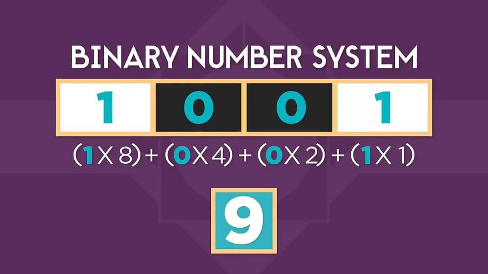 تبدیل سیستم عددی باینری به دهدهی