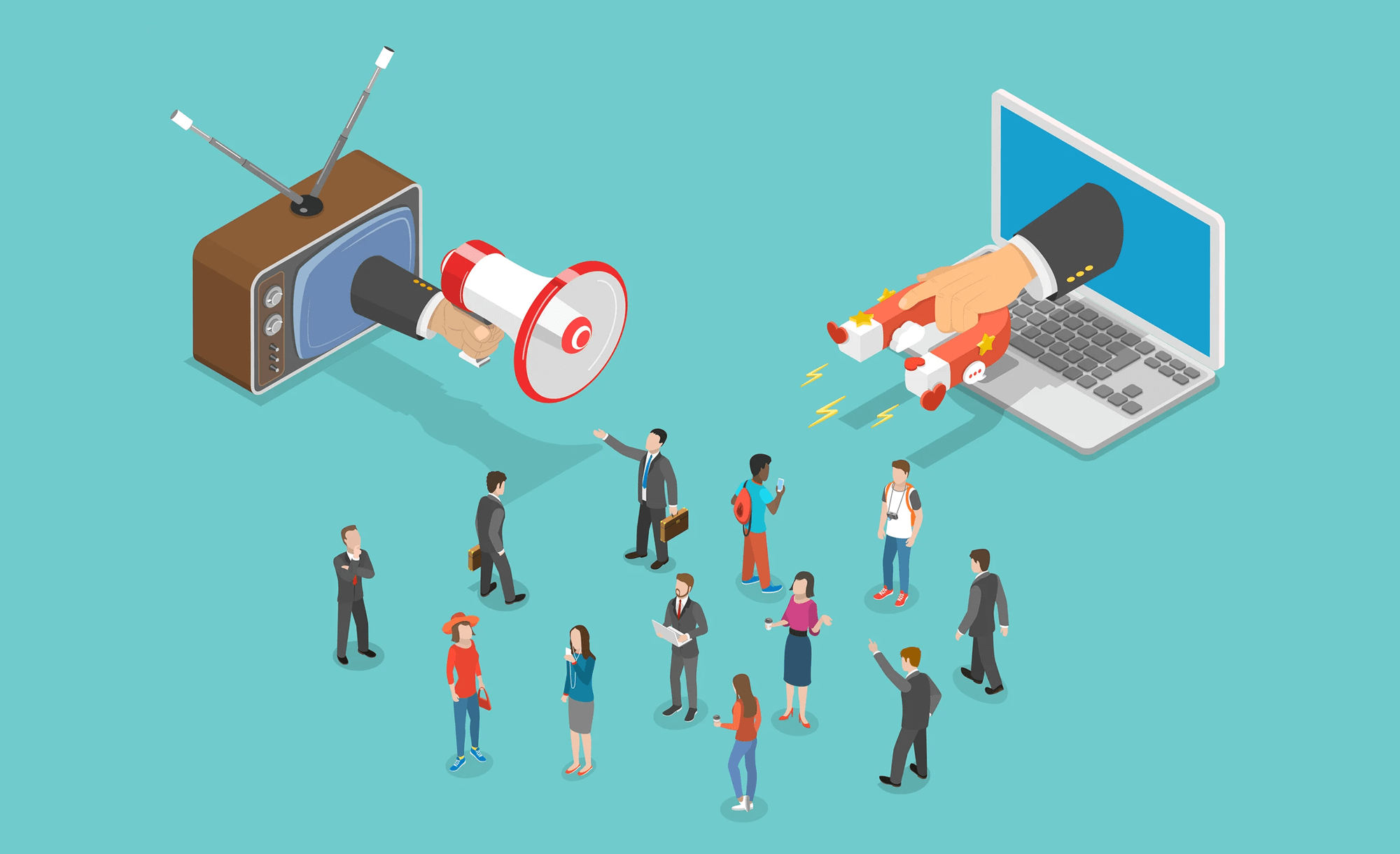 بازاریابی درونگرا چه تفاوتی با بازاریابی برونگرا دارد؟